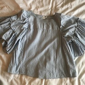 Gap bell sleeve tunic type top with stripes size s